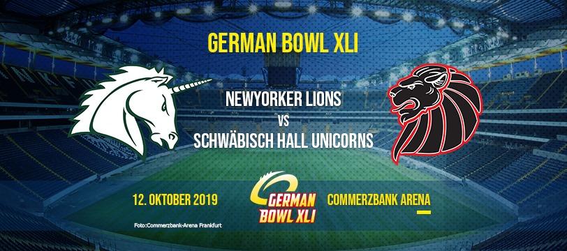 German Bowl XLI: Unicorns vs. Lions